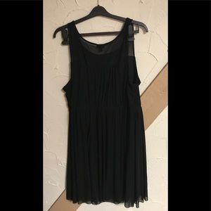 Torrid black lined dress, size 2, pleating
